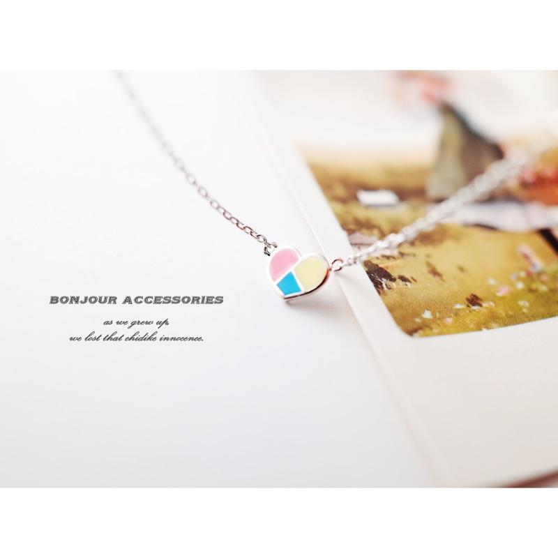 Bonjouracc 正韓❤️心情的色調 短鏈短項鍊鎖骨鏈愛心項鍊