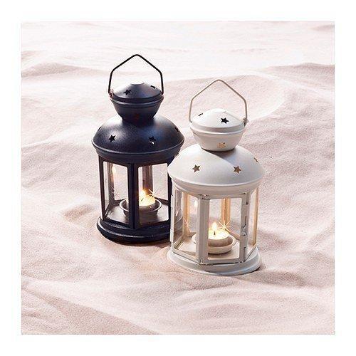 ~IKEA 宜家 ROTERA 白色黑色水藍桃紅蠟燭燭台~