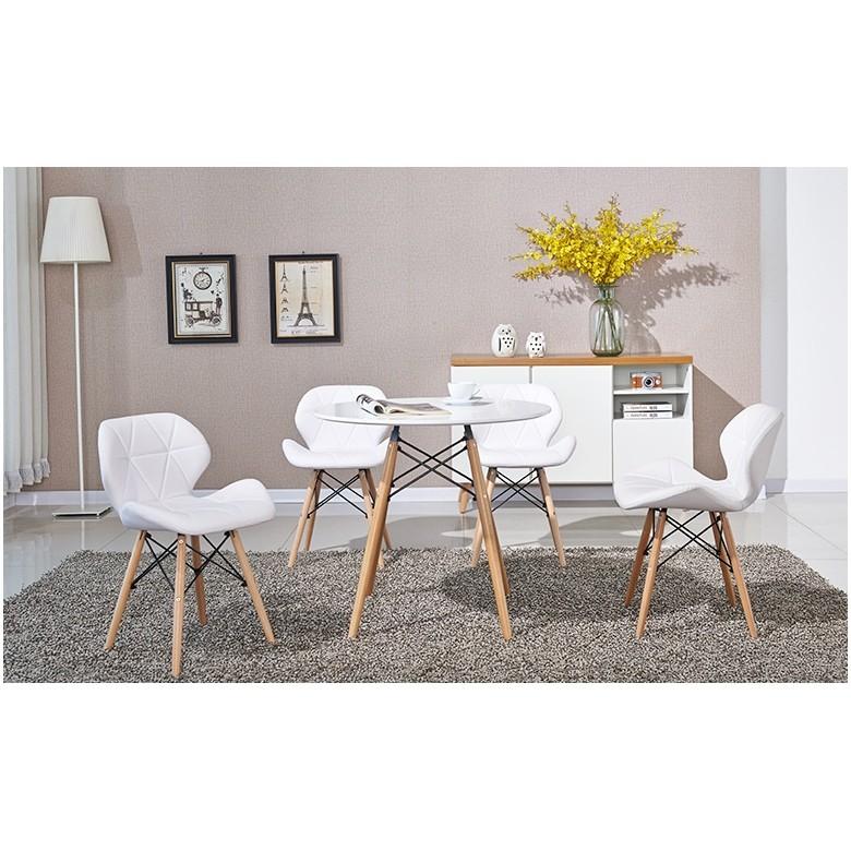 S3K 5DPL1 北歐風居家風格彎扶手 休閒皮餐椅護背 1699 元 1283 元共二色
