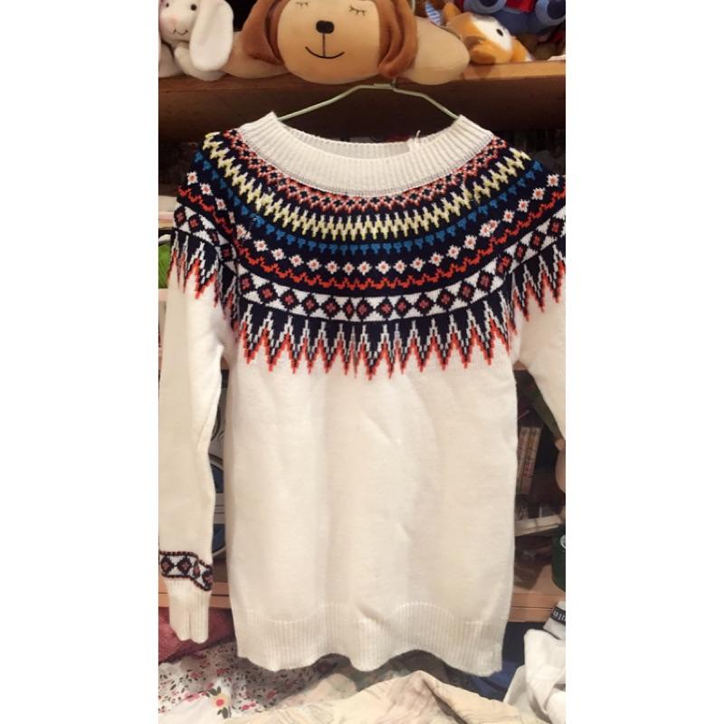 圖騰長袖毛衣