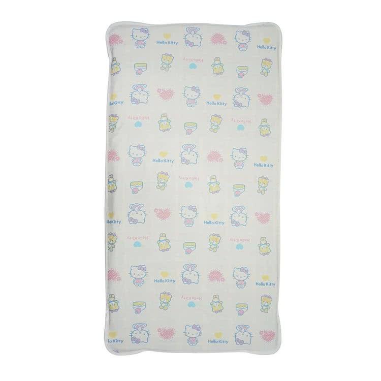 【HELLO KITTY】六層紗乳膠床墊保潔組(乳膠床墊+保潔墊)