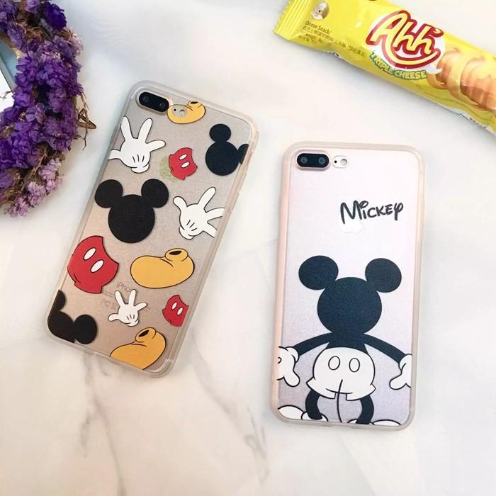 米奇iPhone7 iPhone6 s plus i6 i7 手機殼蠶絲紋軟邊H0022