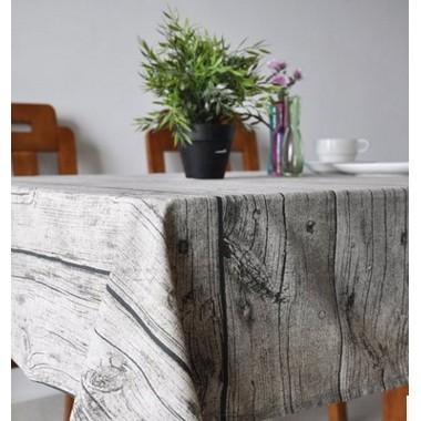樺木木頭紋桌巾小號zakka 仿木紋棉麻布料桌布餐墊 不求人背景布背景圖70X70cm