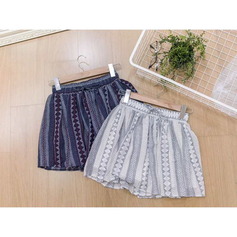 Desire Shop ‧民俗風直條幾何圖騰雪紡褲裙~BG11201 ~ 不追加