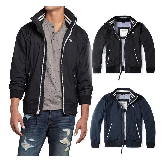 Abercrombie Fitch 男款超柔軟針織裏布原單夾克AF 立領外套休閒外套 外套