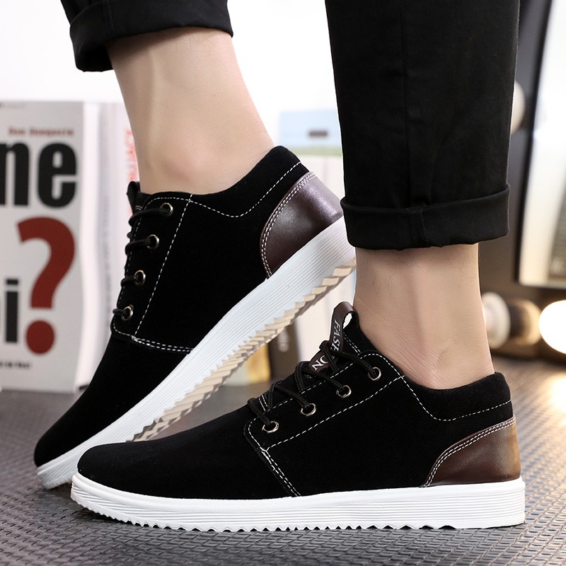 USUN ~男鞋系列~~學生鞋系列~ 板鞋潮流反絨皮學生鞋39 44 碼
