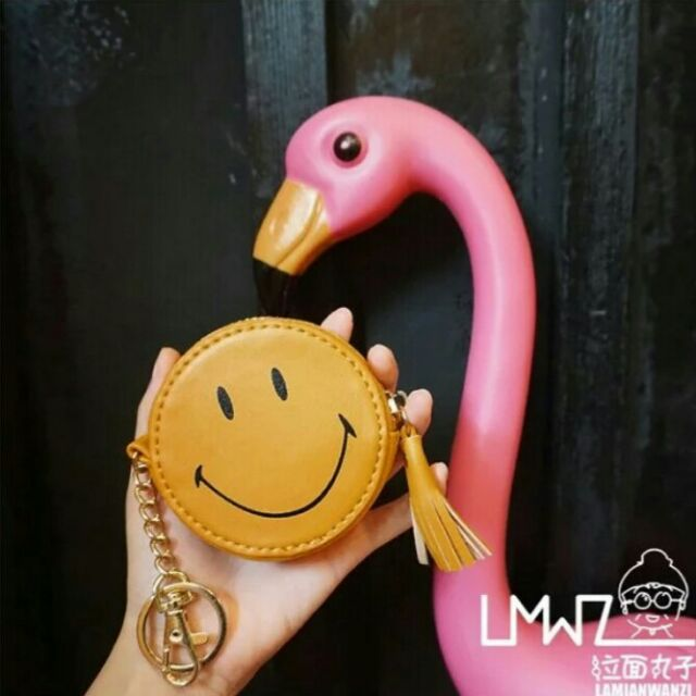 笑臉零錢包卡通小包包流蘇迷你鎖匙包硬幣包8 8 2cm