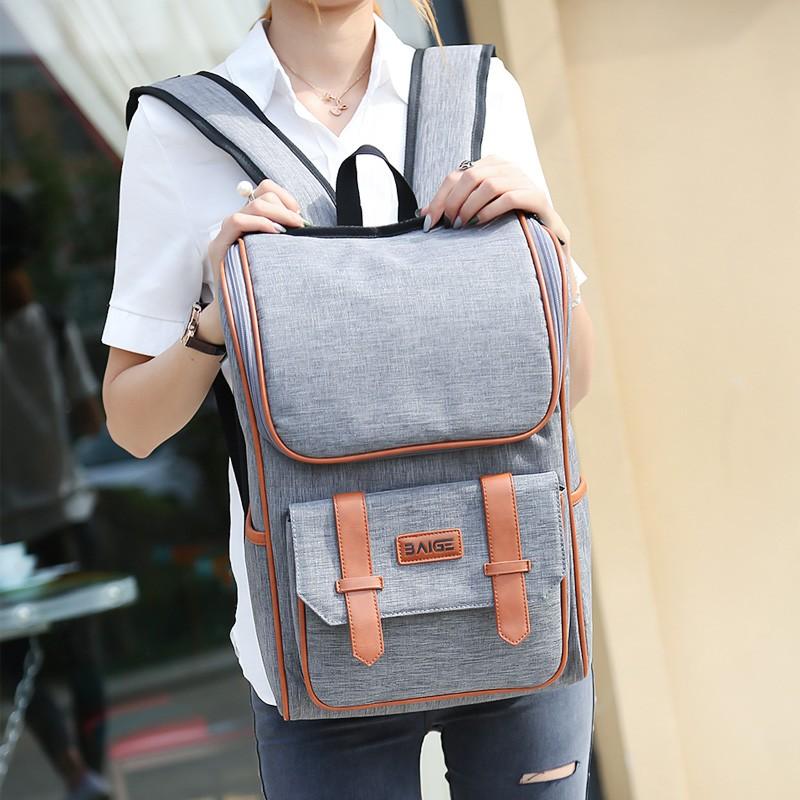 日韓商務背包雙肩包男 潮流青年旅行包 電腦包大學生書包女書包後背包肩背包側背包帆布後背包防