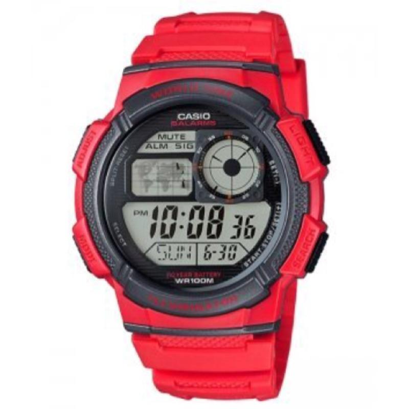 CASIO 卡西歐10 年電力電子錶以飛機儀表板為發想概念AE 1000W 4A AE 2