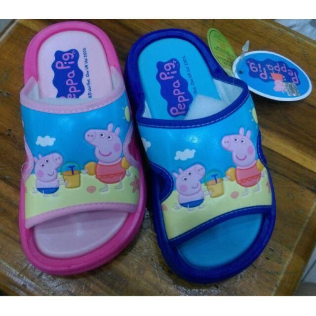 ~佩佩豬peppa pig ~兒童拖鞋海邊系列室內外皆可止滑 好穿脫