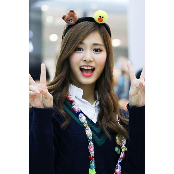 韓國Line Friends 周子瑜布朗熊熊大兔兔莎莉公仔玩偶賣萌髮窟髮飾髮圈