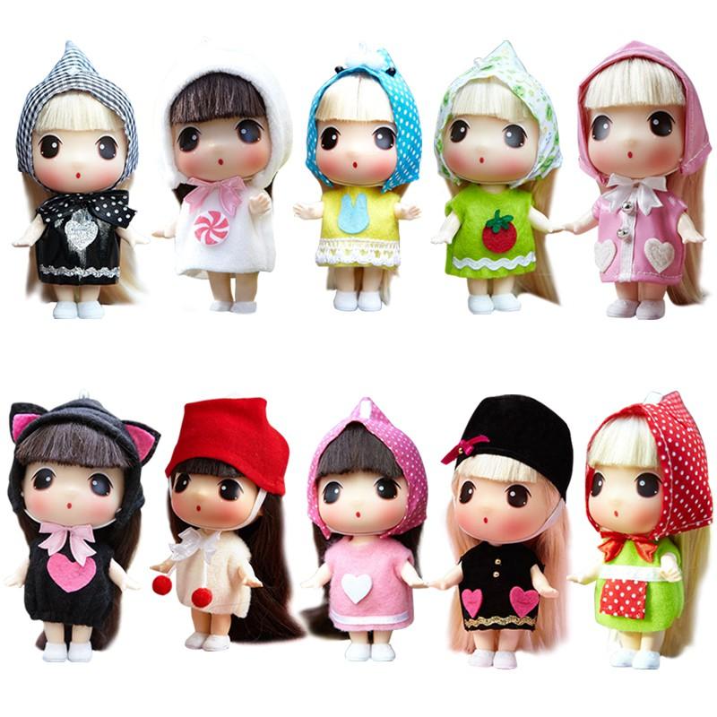 韓國冬己娃娃公主迷糊娃娃掛件兒童可愛迷你洋娃娃女孩玩具套裝
