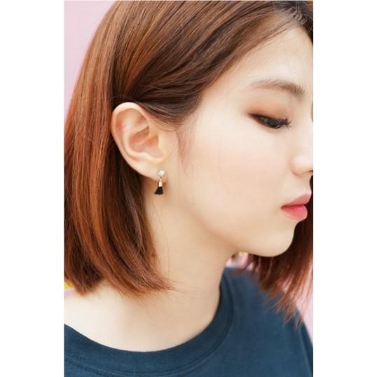 韓國珍珠MINI 小流蘇耳環簡約氣質3 色~B ésame ~Fashion Boutiq