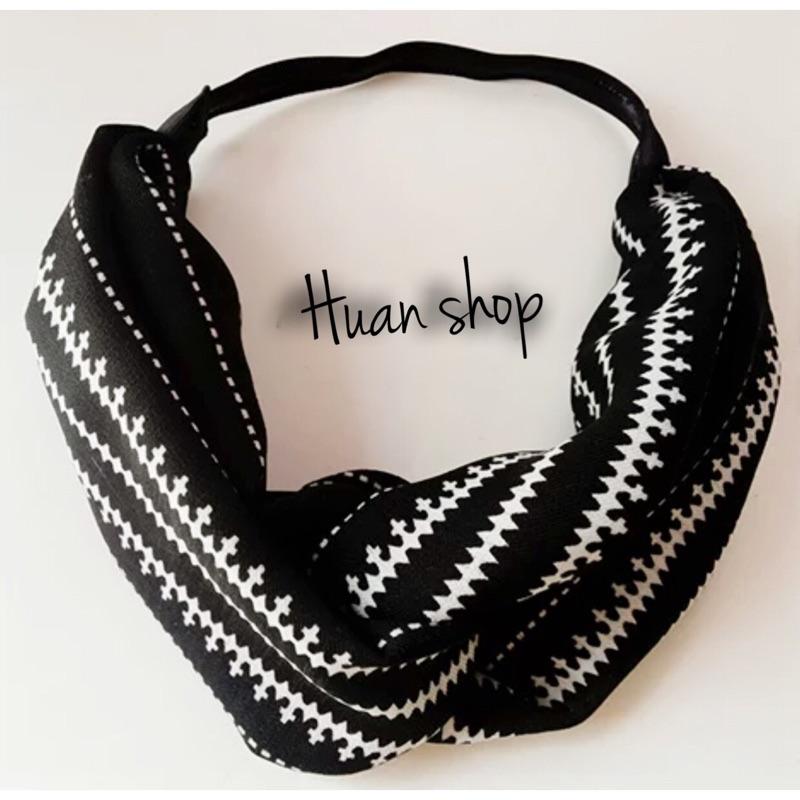 髮帶韓國簡約休閒幾何頭飾線條紋髮箍交叉寬邊氣質黑色百搭髮帶