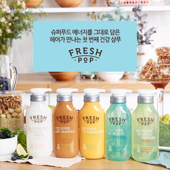 韓國FRESH POP 果汁洗髮精500ml 水果洗髮精李聖經代言