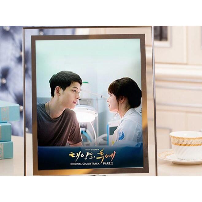 ~買二送一~水晶相框擺臺7 6 8 10 寸七寸 韓式玻璃diy 定制相片