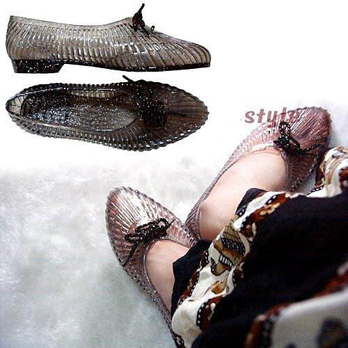 ~CaMu ~~ 製MIT ~防水金蔥果凍海灘鞋塑膠鞋涼鞋雨鞋娃娃鞋尖頭鞋