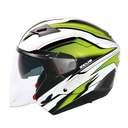 ZEUS ZS 611E TT10 白綠~雙層鏡片內層鏡片有效阻擋陽光照射