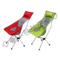 加長版彩色椅背露營椅休閒躺椅釣魚椅月亮椅耐磨加厚牛津布7075 鋁合金支架戶外活動露營野營