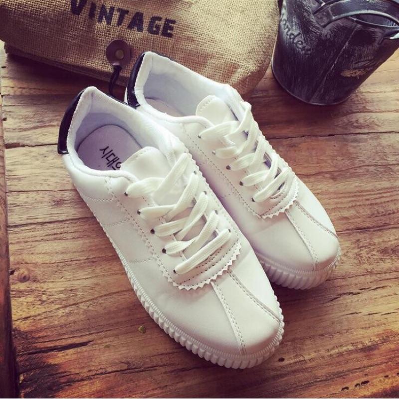 2016 春  繫帶小白鞋厚底 板鞋女式跑步鞋休閒學生鞋