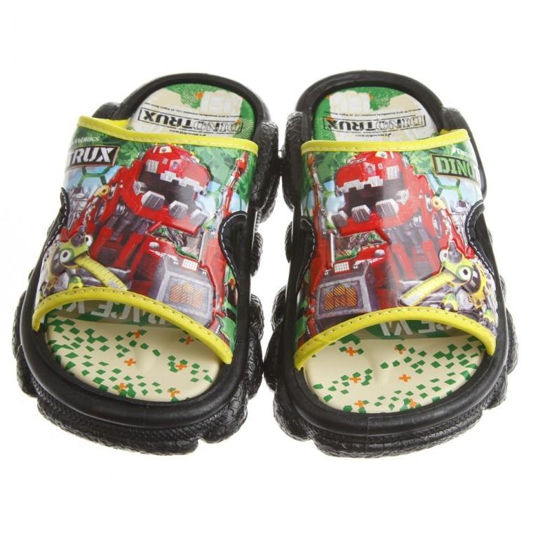 Dinotrux 機器人恐龍玩具綠色兒童拖鞋17 23 公分