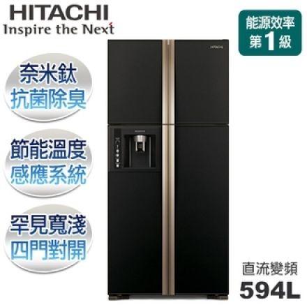 ~逸宸~HITACHI 日立RG616 直流變頻四門冰箱594L 一級能效節能溫度感應系統