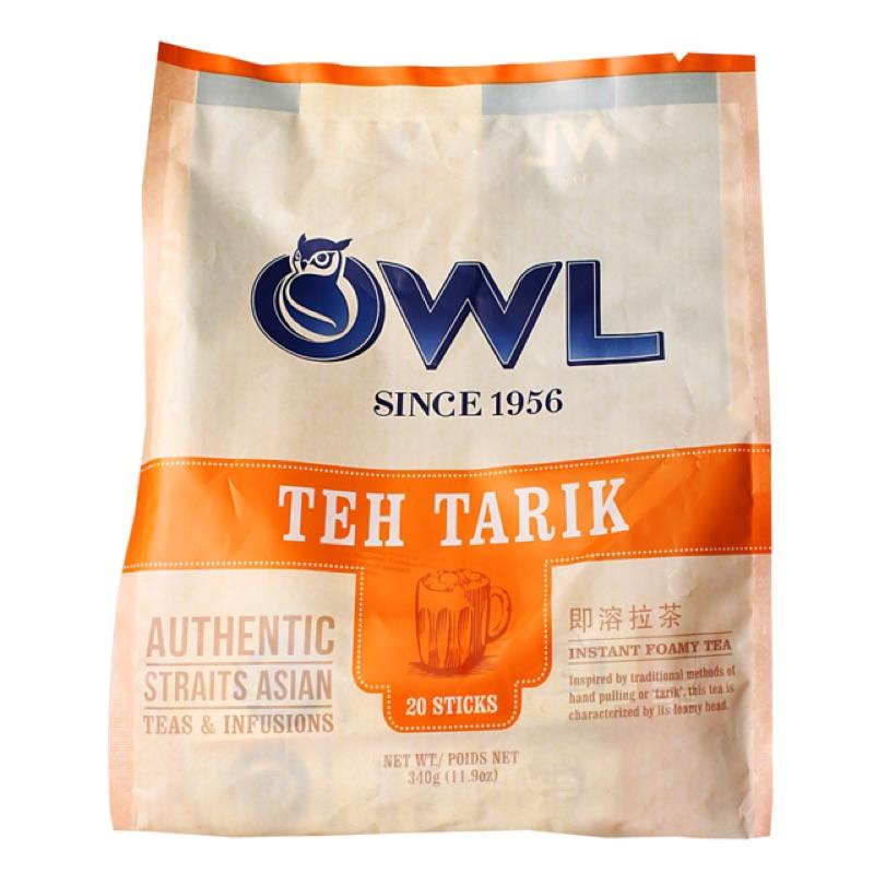 新馬限定Owl Teh Tarik 貓頭鷹即溶拉茶20 入要喝水嗎?新加坡人點餐必配的飲品