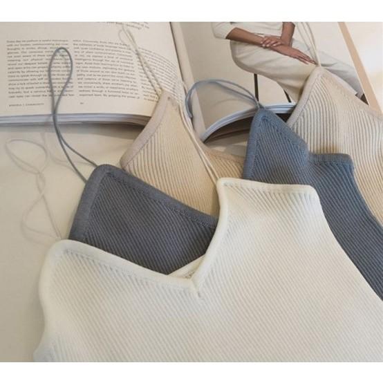 A70 女裝新品 修身豎紋針織打底衫性感顯瘦簡約細吊帶背心