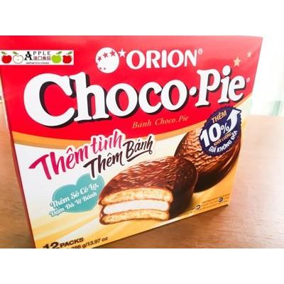 ✦Apple 國際食品✦一盒12 入~越南ORION Chico •pie 巧克力派(增量