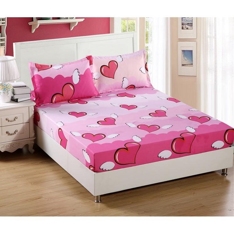 ~單人~床罩床單床包防滑床墊套枕頭套寢具用品天使之心