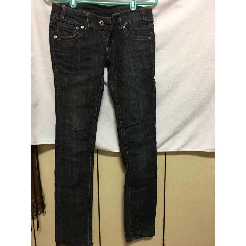 Skinny 合身低腰牛仔褲some one jeans 黑