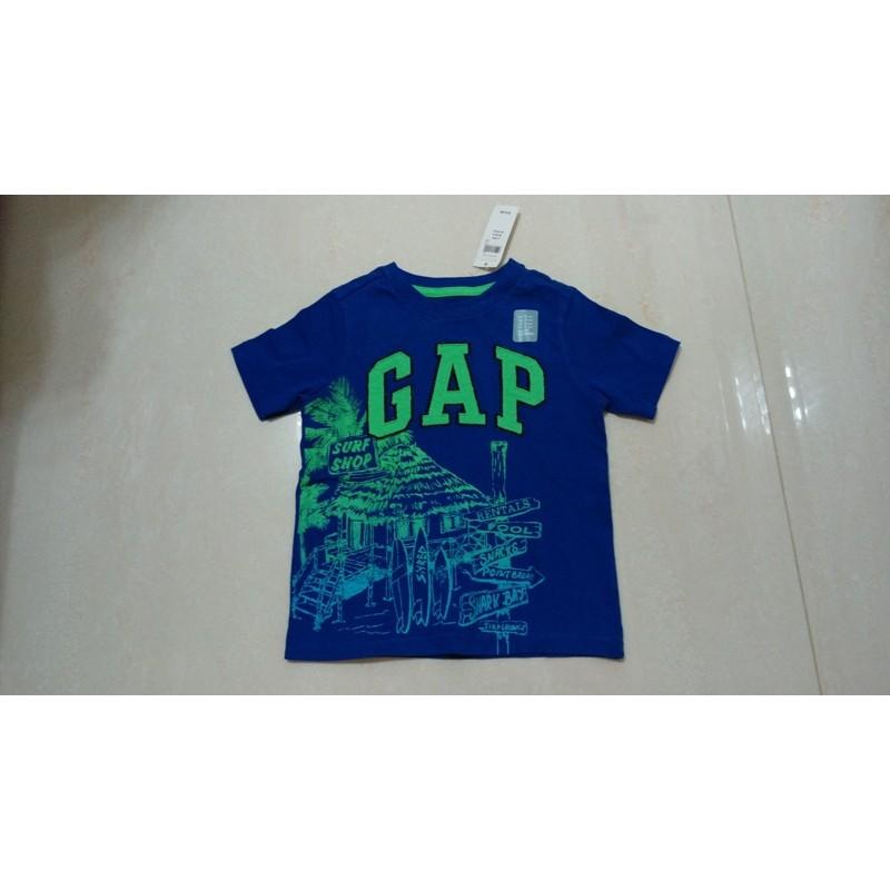 2 歲GAP LOGO 藍色短袖T 男童