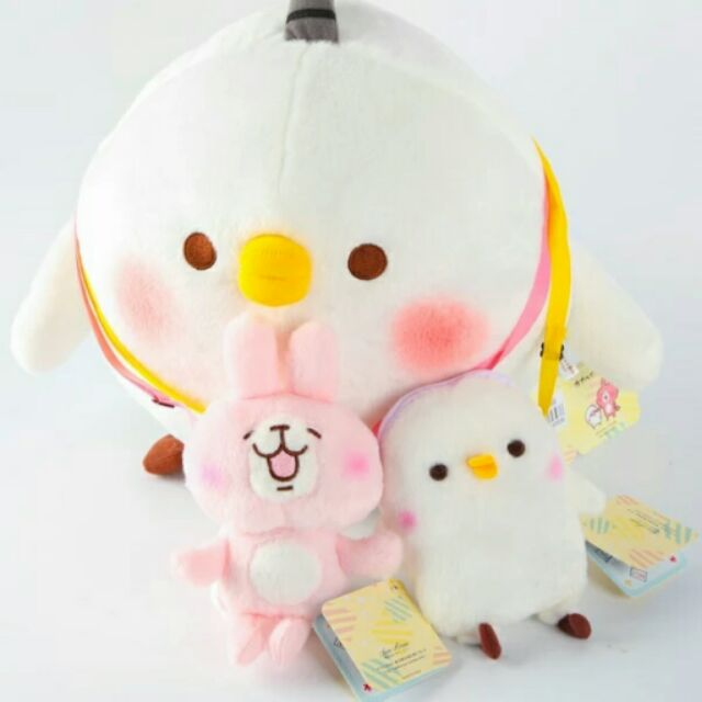 卡娜赫拉娃娃兔子小雞p 助肩背零錢包兒童零錢包肩包
