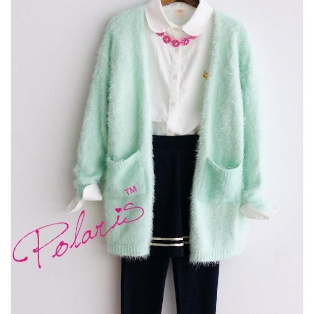 果綠色糖果色毛衣罩衫外套長版外套針織外套非飛行外套棒球外套牛仔外套西裝外套斗篷薄外套防風外