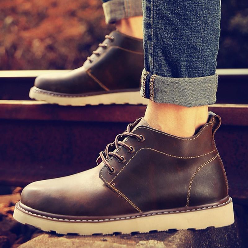 ~熱帶風情~ 馬丁靴男靴子男士高幫男鞋工裝短靴皮靴雪地棉鞋加絨保暖棉靴