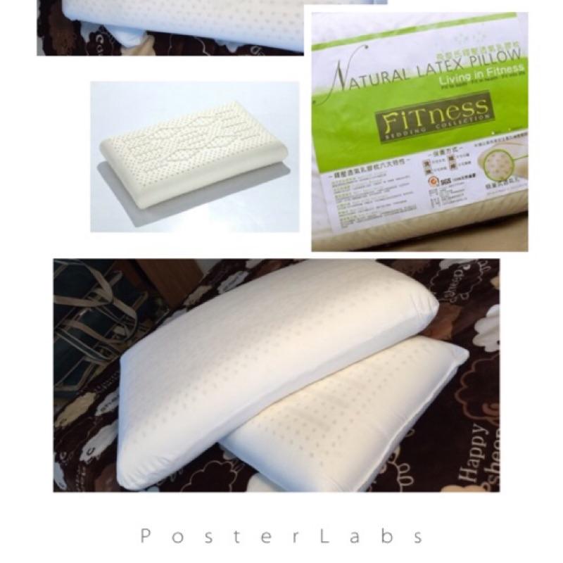~龢瑪傢居~飛黎氏釋壓透氣菱格紋乳膠枕一對2 個1280 元