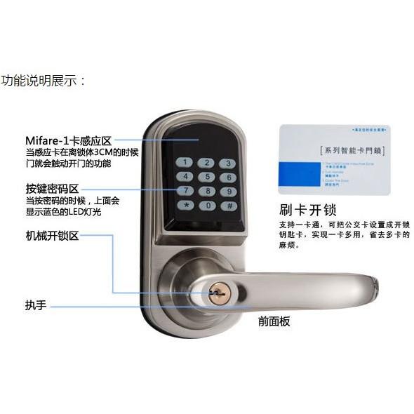 ~紘普~出租套房送感應卡片三合一悠遊卡密碼鑰匙智能門鎖電子鎖