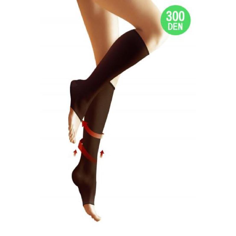 蒂巴蕾健康對策露趾醫用輔助中統襪300D