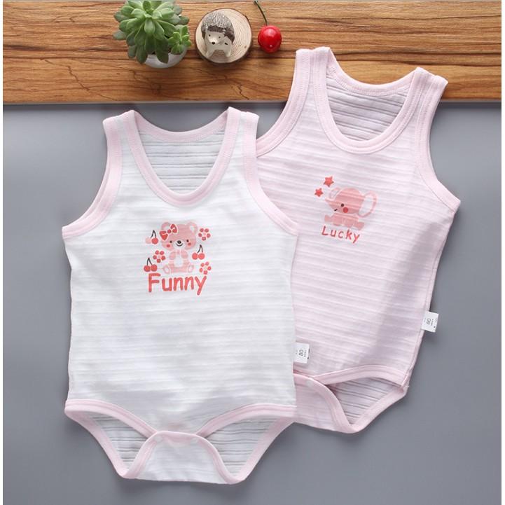 新生兒爆款竹節棉背心哈衣2 入組 哈衣包屁衣輕鬆穿脫一件式寶寶媽媽連身裝嬰幼兒