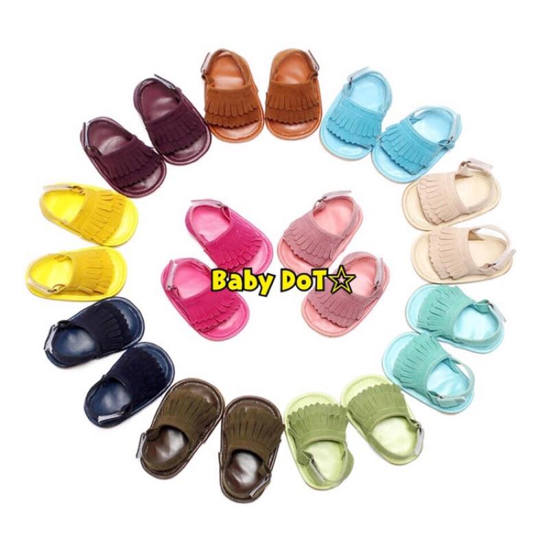 ✨ ✨流蘇寶寶鞋涼鞋嬰幼兒學步鞋夏天 彩虹彩色糖果色童鞋麂皮磨砂皮魔鬼氈寶貝鞋子親子款