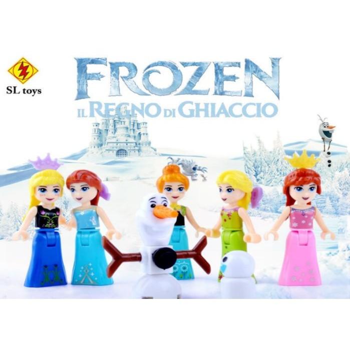 小頑童LEGO 樂高式積木SL8922 迪士尼FROZEN 冰雪奇緣系列人偶艾莎安娜雪寶6