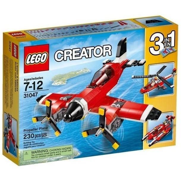 樂高積木LEGO 3 合1 創作系列31047 螺旋槳飛機