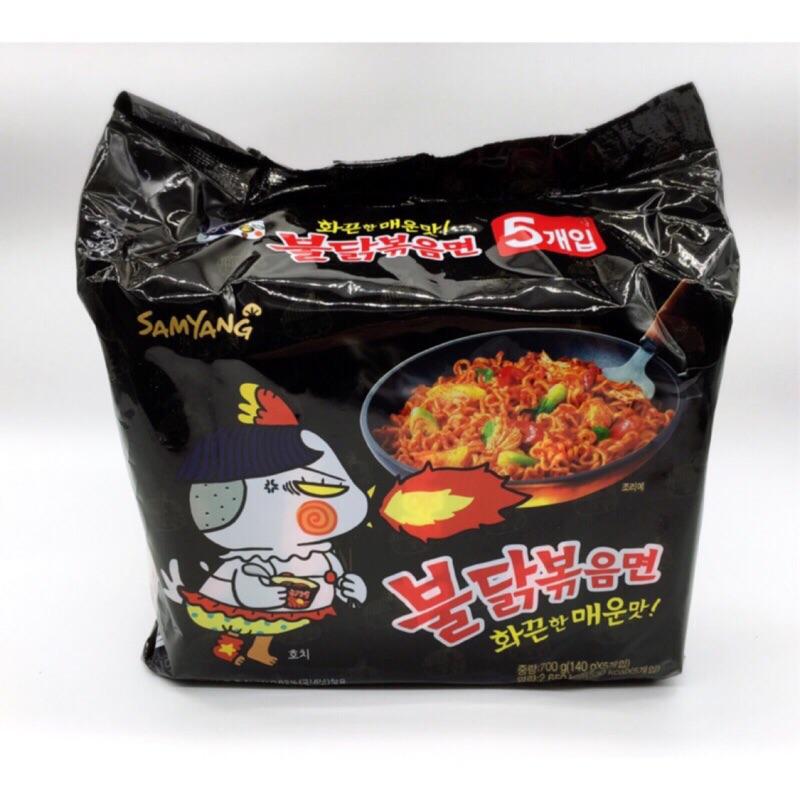 韓國辣雞麵炒麵起司辣雞肉風味麵1 袋5 包