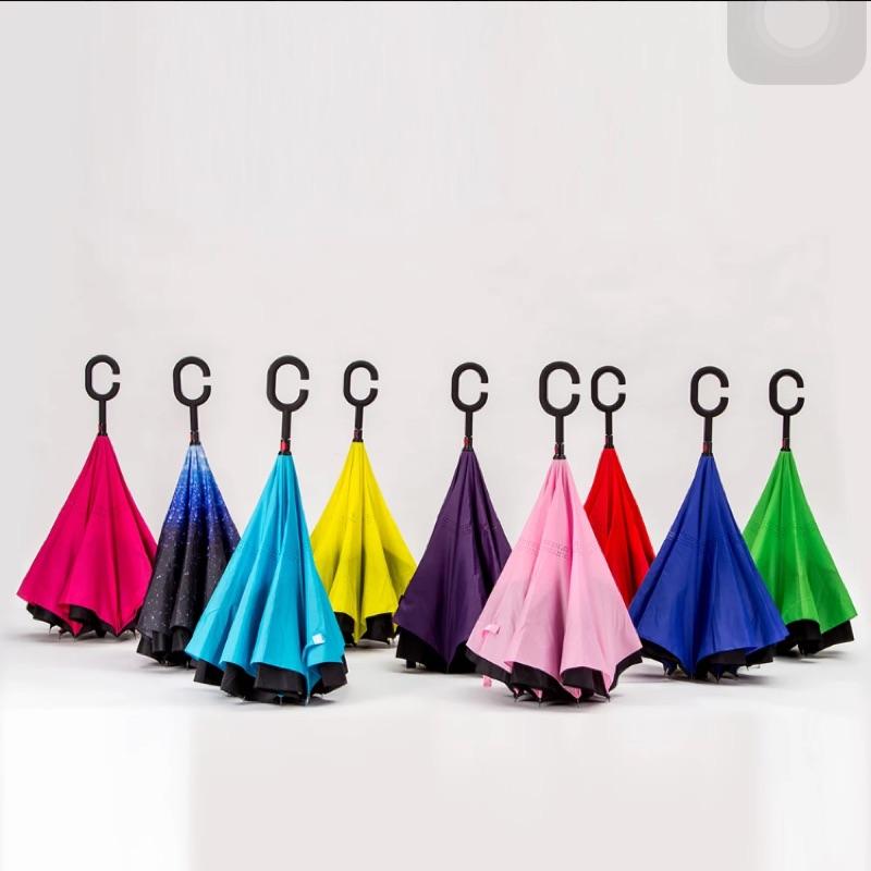 雙層反向傘免持式直柄雨傘外翻傘汽車傘(只能郵寄)