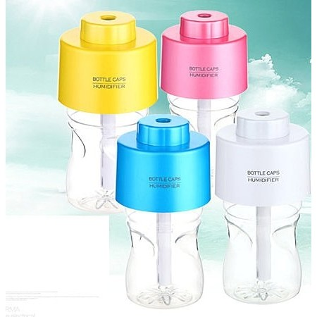 ~881 ~ 保濕美顏機香薰機水氧機迷你瓶蓋加濕器加濕器蒸臉機LED 小夜燈噴霧香氛熏香擴