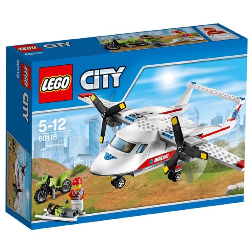 Lego 樂高60116 城市救護飛機