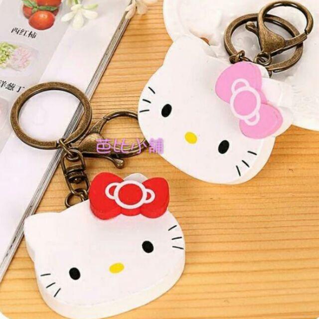 Hello Kitty 韓國可愛木吉鑰匙圈鑰匙鏈卡通可愛鑰匙吊飾