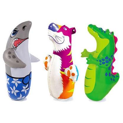 鯊魚,老虎 區intex 3D 動物不倒翁鱷魚老虎鯊魚充氣填充3D 不倒翁玩具