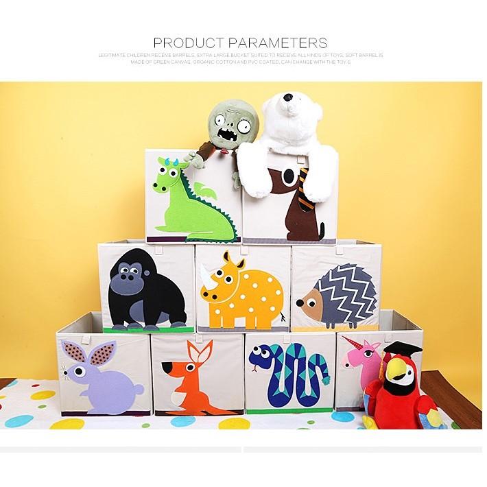 A00S1 超Q 可愛動物摺疊方形收納箱33x33cm 限宅配玩具兒童超愛百搭可折疊收納桶