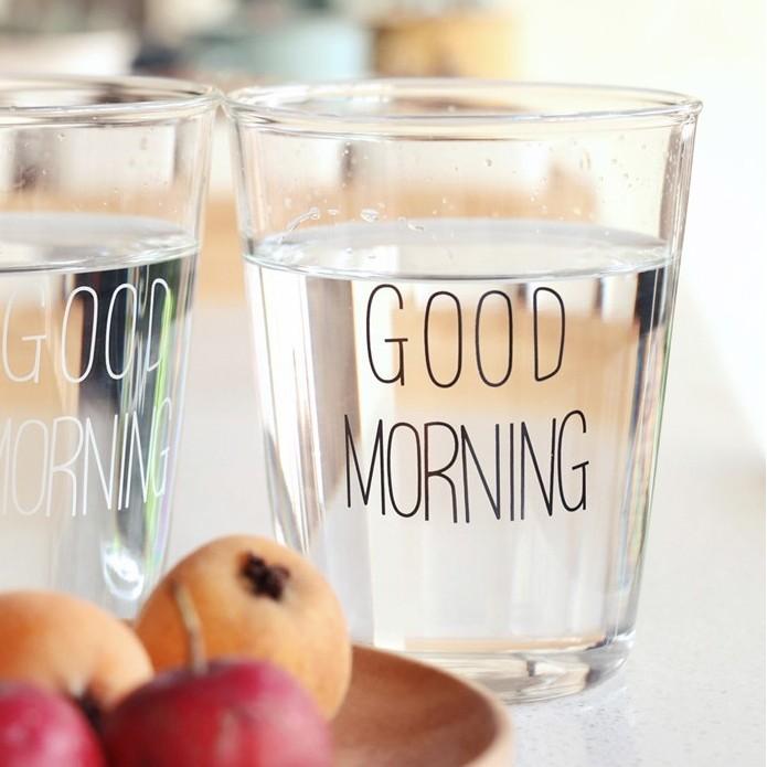 24HR 出貨㊣ GOOD MORNING 玻璃杯果汁杯文青北歐工業無印良品zzkka 早